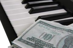 Muziek voor geld Stock Foto