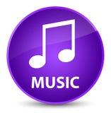 Muziek (wijsjepictogram) elegante purpere ronde knoop Stock Afbeelding