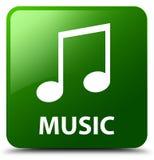 Muziek (wijsjepictogram) groene vierkante knoop Stock Foto's
