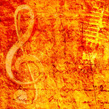 Muziekachtergrond Royalty-vrije Stock Fotografie