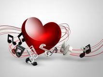 Muziekachtergrond stock illustratie