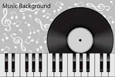Muziekachtergrond Stock Fotografie