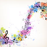 Muziekachtergrond Stock Afbeeldingen