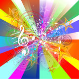 Muziekachtergrond Stock Afbeelding
