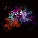 Muziekachtergrond met kleur Royalty-vrije Stock Fotografie