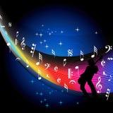 Muziekachtergrond in muzikale gebeurtenis stock illustratie