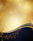 Muziekaffiche Royalty-vrije Stock Foto's