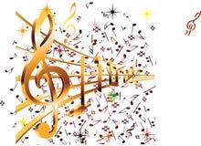 Muziekart. Royalty-vrije Stock Afbeelding