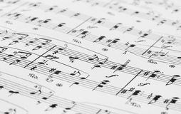 Muziekblad royalty-vrije stock foto's