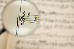 Muziekblad stock fotografie