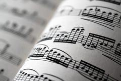 Muziekblad Royalty-vrije Stock Afbeeldingen
