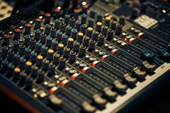 Muziekcontrolebord Royalty-vrije Stock Foto's