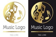 Muziekembleem Royalty-vrije Stock Afbeeldingen