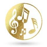Muziekembleem Stock Foto