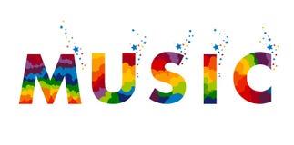 Muziekembleem op wit Stock Fotografie