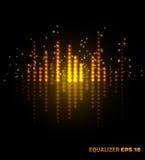 Muziekequaliser Vector illustratie Royalty-vrije Stock Afbeelding