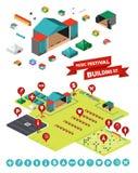 Muziekfestival de Bouwuitrusting Stock Foto's