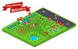 Muziekfestival de Bouwuitrusting 2 Royalty-vrije Stock Fotografie