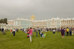 Muziekfestival dichtbij met Catherine Palace Stock Afbeeldingen