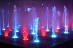 Muziekfontein, zingende fontein Stock Fotografie