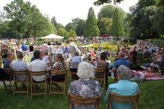 Muziekgebeurtenis in het park in de stad Rotterdam in de zomer royalty-vrije stock foto's