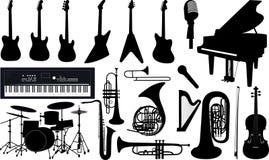 Muziekinstrumenten Stock Foto's