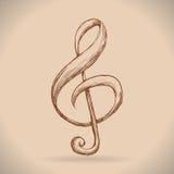 Muziekinstrumenten en nota's Royalty-vrije Stock Foto's