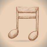 Muziekinstrumenten en nota's Stock Foto