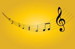 Muzieknoot Stock Afbeelding