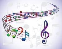Muzieknootillustratie vector illustratie