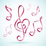 Muzieknootlinten Stock Foto's