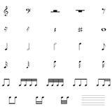 Muzieknootpictogram Stock Foto's