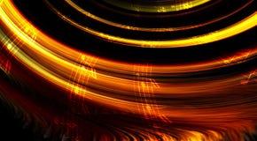 Muzieknota en abstrtact kleurenachtergrond Lichte cirkel Royalty-vrije Stock Foto