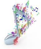 Muzieknota's Royalty-vrije Stock Foto