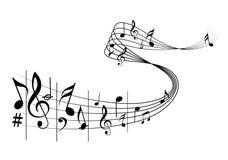 Muzieknota's Stock Fotografie