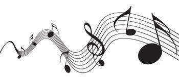Muzieknota's Stock Foto
