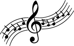 Muzieknota's Stock Foto's