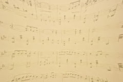 Muzieknoten. Stock Foto's