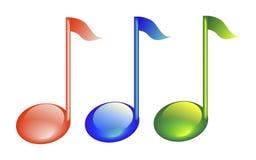 Muzieknoten Stock Foto's