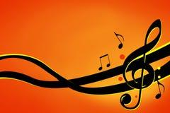 Muzieknoten Stock Afbeelding