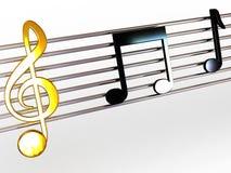 Muzieknoten. royalty-vrije illustratie