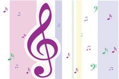 Muzieknoten Royalty-vrije Stock Afbeeldingen