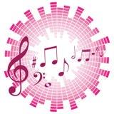 Muzieknoten met correcte schaal vector illustratie