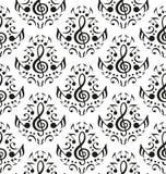 Muzieknoten naadloos patroon stock illustratie
