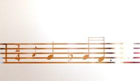 Muzieknoten op berijpt glas, kunstachtergrond stock illustratie