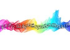Muzieknoten op spectrumlint royalty-vrije illustratie