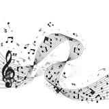 muzieknotenontwerp royalty-vrije illustratie