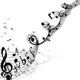 muzieknotenontwerp stock illustratie