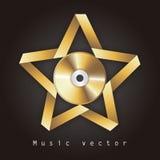 Muziekontwerp stock illustratie