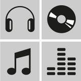 Muziekpictogrammen geplaatst voor om het even welk gebruik, Vectoreps10 groot Royalty-vrije Stock Fotografie